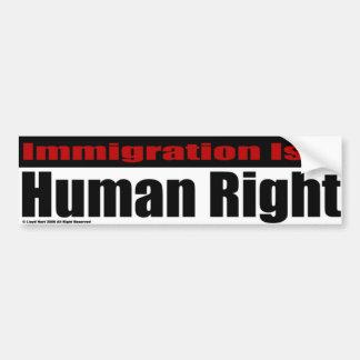 移住は人権です バンパーステッカー
