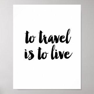 移動することは住むことです ポスター
