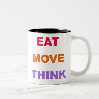 移動を考えますマグを食べて下さい ツートーンマグカップ