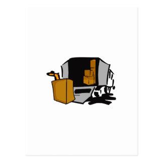 移動トラック ポストカード