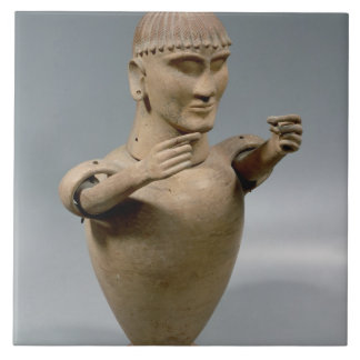 移動可能な腕(粘土)を搭載するカノプス壺 タイル