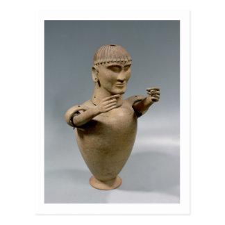 移動可能な腕(粘土)を搭載するカノプス壺 ポストカード