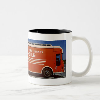 移動図書館のコーヒー・マグ ツートーンマグカップ