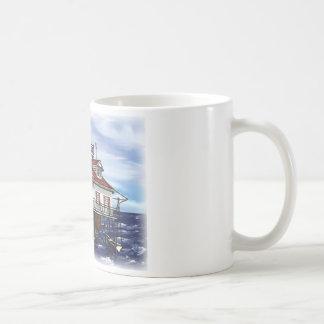 移動式中間湾の灯台 コーヒーマグカップ