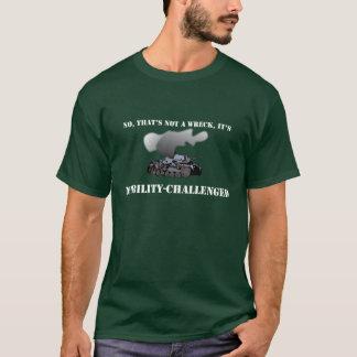 移動性によって挑戦されるPanzerの暗闇のTシャツ Tシャツ