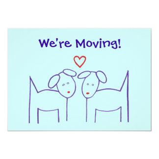 移動発表-ハートの犬 12.7 X 17.8 インビテーションカード