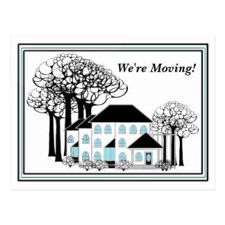 移動-変更の家-郵便はがき 葉書き