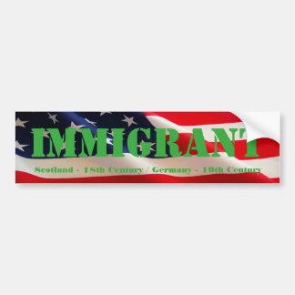 移民のアメリカ人 バンパーステッカー