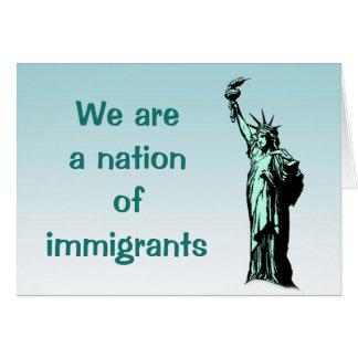 移民の空白のなカードの国家自由の女神 カード