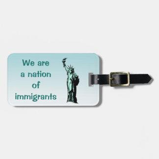 移民の青い荷物のラベルの国家 ラゲッジタグ