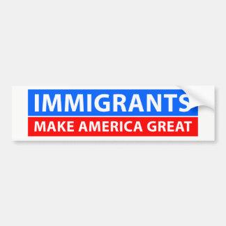 移民はアメリカを素晴らしくさせます バンパーステッカー