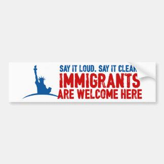 移民はバンパーステッカーを歓迎します バンパーステッカー
