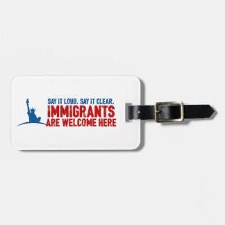 移民は荷物のラベルを歓迎します ラゲッジタグ