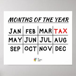 税の会計士のための税の季節ポスター ポスター