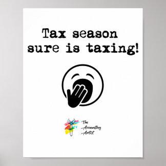 税の季節ポスター芸術 ポスター