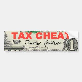 税の詐欺 バンパーステッカー