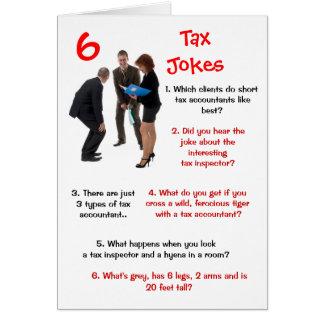 税の6つの税の冗談のおもしろいな誕生日 カード