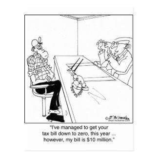 税ゼロ、CPAビル$10,000,000 ポストカード