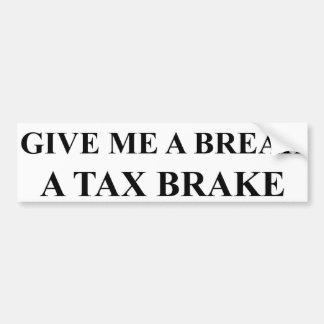 税ブレーキ バンパーステッカー