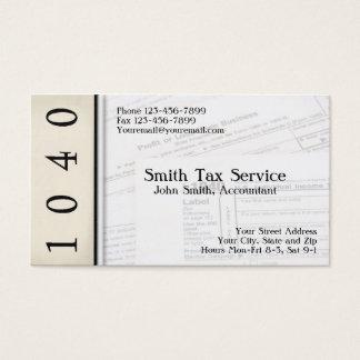 税準備者の会計士の名刺 名刺
