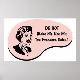 税準備者の声 ポスター