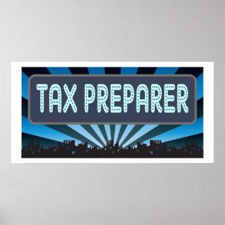 税準備者の玄関ひさし ポスター