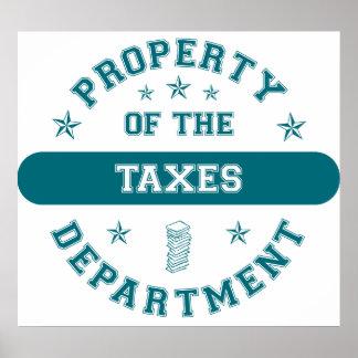税部の特性 ポスター