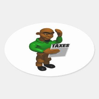 税 楕円形シール