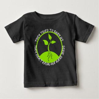 種のベビーの暗いジャージーのTシャツ ベビーTシャツ