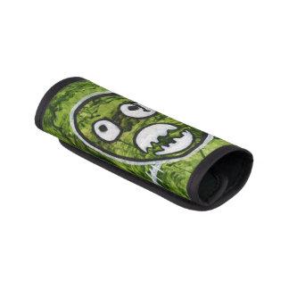 種の多いピートのかわいいスカルモンスターのスイカの緑の芸術 ラゲッジ ハンドルラップ