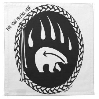 種族くまのナプキンのカスタムな天然芸術のナプキン ナプキンクロス