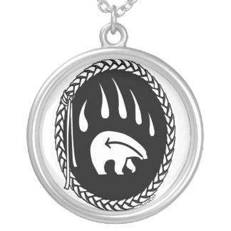 種族くまのネックレスの野性生物の芸術くまのネックレス シルバープレートネックレス