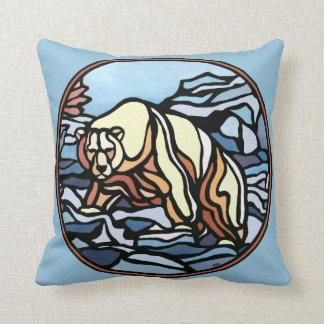種族くまの芸術の枕最初国家くまの枕 クッション