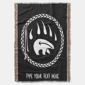 種族くま毛布の原産くま爪のブランケット スローブランケット