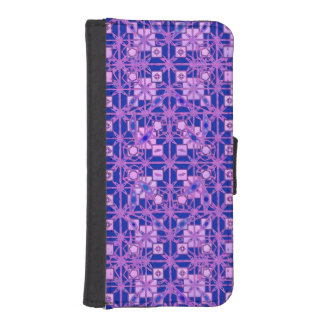 種族のろうけつ染め-紫色の色合い iPhoneSE/5/5sウォレットケース