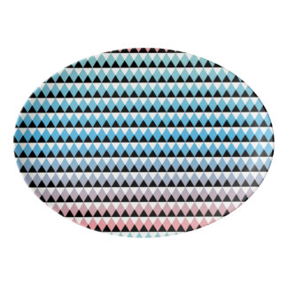 種族のアステカでグラデーションなパターン 磁器大皿