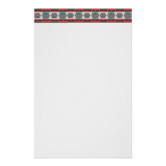 種族のアステカなパターン文房具の紙 便箋