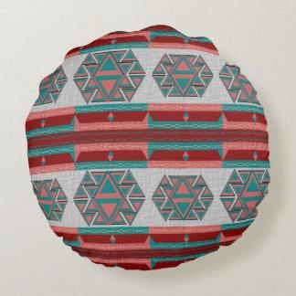 """種族のアステカなパターン綿の円形の装飾用クッション16"""" ラウンドクッション"""