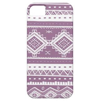 種族のアステカなレースパターン(紫色) iPhone SE/5/5s ケース