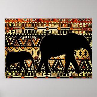 種族のアフリカゾウの芸術ポスター ポスター