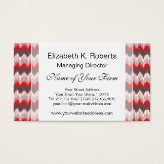 種族のイカットの赤い灰色のジグザグ形シェブロンは縞で飾ります 名刺