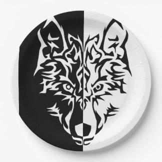 種族のオオカミのスタイル ペーパープレート
