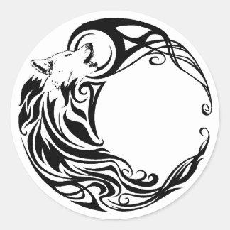 種族のオオカミ ラウンドシール