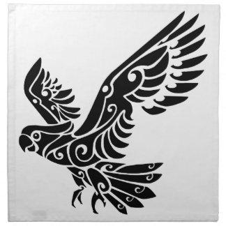 種族のオカメインコの鳥の入れ墨 ナプキンクロス