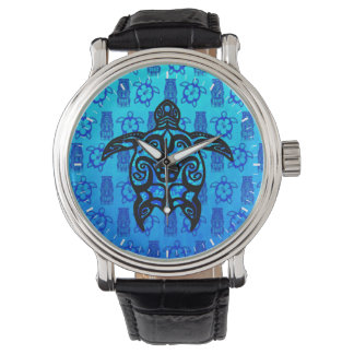 種族のカメのハイビスカス 腕時計