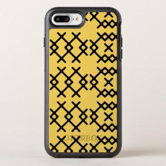 種族のサクラソウの黄色の遊牧民の幾何学的な形 オッターボックスシンメトリーiPhone 8 PLUS/7 PLUSケース