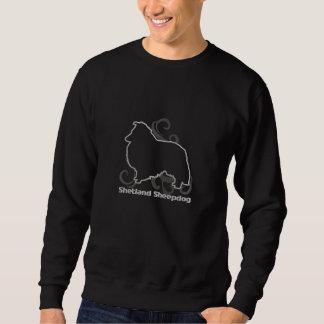 種族のシェットランド・シープドッグによって刺繍されるスエットシャツ 刺繍入りスウェットシャツ