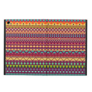 種族のストライプので抽象的なパターンデザイン iPad AIRケース