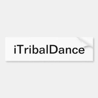 種族のダンスのバンパーステッカー バンパーステッカー