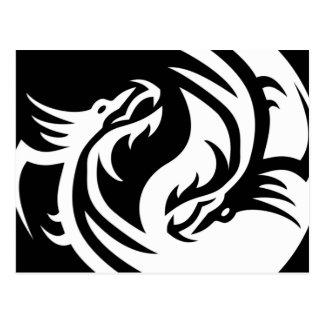 種族のドラゴンの陰陽(それをカスタマイズ!) ポストカード